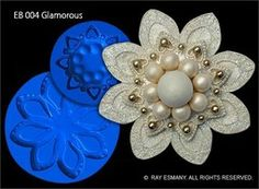 SUGARVEIL BROOCH MOULD - GLAMOROUS on Babycakes & Roses Cakecraft