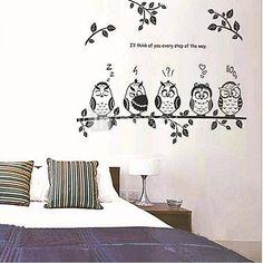 búhos y rama de etiqueta de la pared sala / comedor / dormitorio para niños 2016 – €6.85