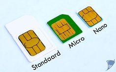 Wat is het verschil tussen een Nano, Micro en een standaard SIM?