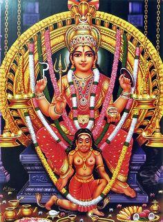 Attukal Bhagavathy (Reprint on Paper - Unframed)
