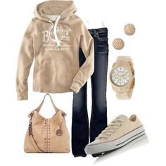 """Love Hooded  pull over sweatshirts and Converse """"Sporty"""" by honeybee20 on Polyvore"""