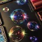 "4,066 Likes, 117 Comments - Stephanie Balfy✍ (@steffifreder_art) on Instagram: ""Always wanted to draw a bubble!   Prismacolor pencils on black paper."""