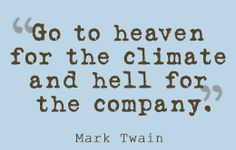 Witty quote by Mark Twain