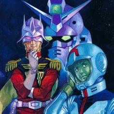 Mobile Suit Gundam  シャア・ガンダム・アムロ 安彦良和