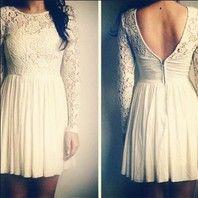 Low back & Lace--Rehersal Dinner Dress!