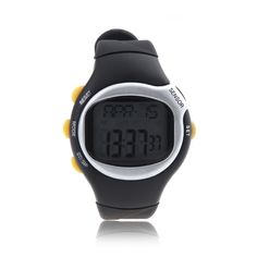 6.76$  Buy here  - Square Dial Calorie Counter Pulse Heart Rate Monitor Sport Exercise Watch Black