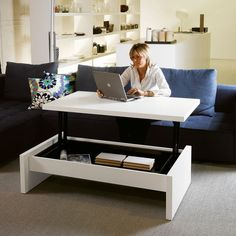 Table basse relevable en bois Yoyo - 1