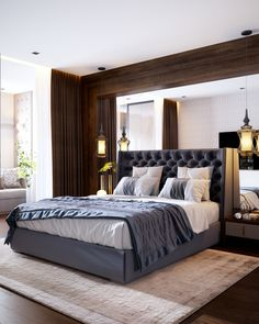 Interior bedroom in Art Deco on Behance