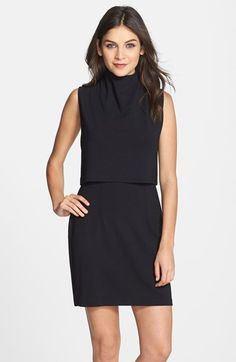 7e99652e330f French Connection Turtleneck Sleeveless Popover Dress available at   Nordstrom Black Dress With Sleeves