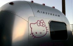 Hello Kitty Airstream was designed by Cynthia Rowley and sold at a  Hollywood charity auction for $150,000. It was originally created for the  30th anniversary of Hello Kitty.