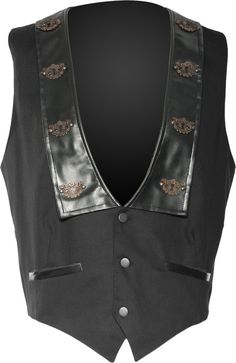 Steampunk vest with keyhole applications