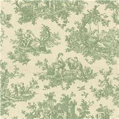 green - Waverly Toile Sweet Pastimes Sage
