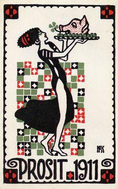 Postkarte no. 305 Hans Kalmsteiner. ART & ARTISTS: Wiener Werkstätte postcards – part 1