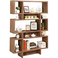Pilaster Designs Cube Bookcase Display Cabinet ($159) ❤ liked on Polyvore…