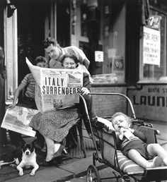 New York, 1943. Those days when people sat out on the streets.