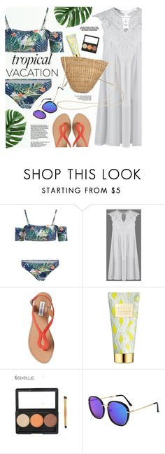 """""""Vacation"""" by yexyka ❤ liked on Polyvore featuring Steve Madden and AERIN"""