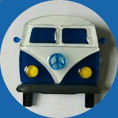 Hippie Camper Van Brooch Blue, Vintage Inspired, Novelty brooch, Rockabilly…