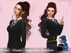 M-Shi Newsea Kaysa Hair Retexture at Mikerashi • Sims 4 Updates