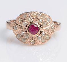Ruby Ring Rose Gold - Ruby Ring Women - Rose #jewelry #ring @EtsyMktgTool #rosegold #womenring #ringwithruby #rosegoldring #gemstonerings