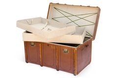 One Kings Lane - Seahouse Design - Large Vintage Travel Trunk