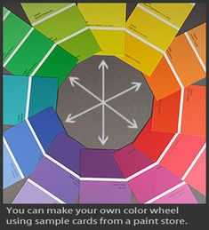 Home-made color wheel