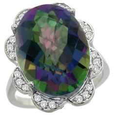 https://ariani-shop.com/14k-white-gold-natural-mystic-topaz-ring-oval-18x13mm-diamond-floral-halo-3-4inch-wide-sizes-5--10 14k White Gold Natural Mystic Topaz Ring Oval 18x13mm Diamond Floral Halo, 3/4inch wide, sizes 5 - 10
