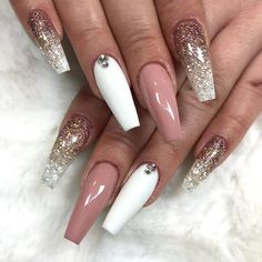 Acrylic nail art 651755377304832921 - Ballerina Nail Art Tips Transparent/Natural False Coffin Nails Art Tips Flat Shape Full Cover Manicure Fake Nail Tips Source by elodieplatof Best Acrylic Nails, Acrylic Nail Designs, Nail Art Designs, Nails Design, Coffin Nail Designs, Nail Crystal Designs, Accent Nail Designs, Long Nail Designs, Acrylic Nail Art