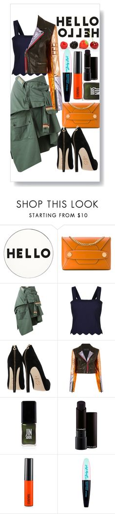 """Untitled #226"" by sailorqueen ❤ liked on Polyvore featuring Lisa Perry, STELLA McCARTNEY, Faith Connexion, Sandro, Haider Ackermann, JINsoon, MAC Cosmetics and L'Oréal Paris"