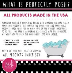 What is Perfectly Posh? https://jenniferbonti.po.sh/front  to find out more. #perfectlyposh