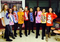 Halloween Group Dress Up Idea - candy costumes candy costumes candy costumes candy costumes candy costumes Girl Group Halloween Costumes, Best Group Halloween Costumes, Halloween Outfits, Halloween Halloween, Funny Group Costumes, Halloween Dress, Halloween Couples, Homemade Halloween, Family Costumes