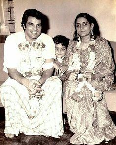 Garam Dharam with Wife Prakash Kaur and Son Bobby Deol