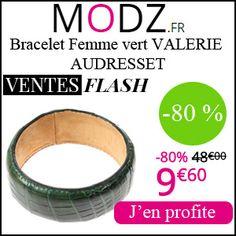 #missbonreduction; Vente Flash : réduction de 80 % sur le Bracelet Femme vert VALERIE AUDRESSET chez MODZ.http://www.miss-bon-reduction.fr//details-bon-reduction-MODZ-i852315-c1831036.html