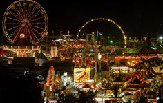 Love the carnivalscape! Beautiful site at The Big Fresno Fair!  http://fresnofair.com/carnival