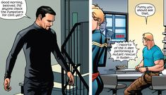 """laireshi: """" So… The thing is not even how Tony calls Steve. The thing is that it's Steve who replies without thinking or blinking at the name. Like he's used to it. I wonder why. """""""