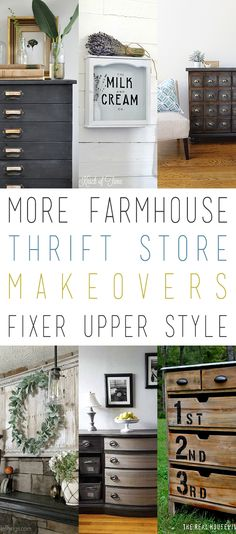 It's pretty amazing how the whole Farmhouse/Fixer Upper Style has continue to sore throug the Home Decor World by storm and there are no signs of it slowing down.  So I thought it was a good idea to do yet another collection that is all about Farmhouse Thrift Store Makeovers Fixer Upper Style.  Time to …