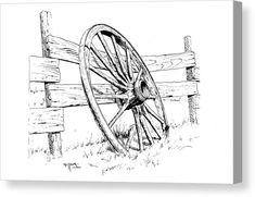 Landscape Pencil Drawings, Pencil Art Drawings, Art Drawings Sketches, Graphite Drawings, Sketch Drawing, Barn Drawing, Painting & Drawing, Turner Painting, Wood Burning Patterns