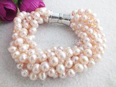 Z-1598 Beautiful Gril's Fashion Pearls Bracelet Jewelry wholesale!for women 2014 $86.14