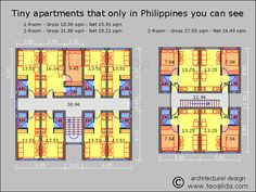 Small Apartment Design Philippines small apartment block with 3-room flats | apt plan | pinterest
