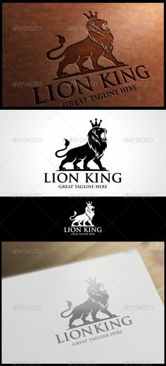 Lion King Logo Template  #luxury #marketing #maskulin • Available here → http://graphicriver.net/item/lion-king-logo-template/5964645?s_rank=650&ref=pxcr