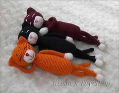 Amigurumi cat pattern (Krista's craft shop) to order on ebay