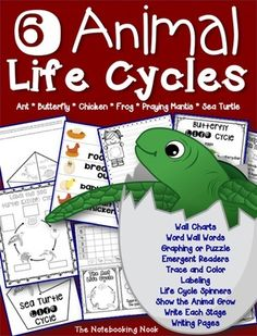 Animal Life Cycles Bundle! Enter for your chance to win 1 of 3.  Animal Life Cycles Bundle (72 pages) from Notebooking Nook on TeachersNotebook.com (Ends on on 4-8-2015)  This set includes six animal life cycles. There are anchor charts, word wall words, graphing or puzzle for each life cycle, emergent readers, trace and color, labeling, show the animal grow, write each life cycle in order and writing pages.