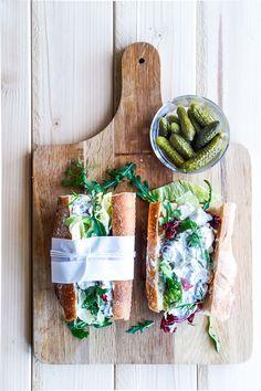 Sandwich with chicken salad (hønsesalat - kyllingesalat - sandwich)