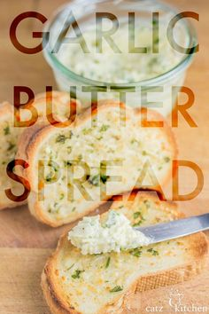 Ever wanted your own garlic butter spread recipe for making garlic bread at home? Well, now's your chance! This one is easy, quick, and keeps in the fridge! Garlic Bread At Home, Garlic Butter Spread, Garlic Butter For Bread, New Recipes, Dinner Recipes, Cooking Recipes, Favorite Recipes, Recipies, Yummy Recipes