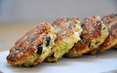 Quinoa Patties with Feta Cheese and Olives recipe