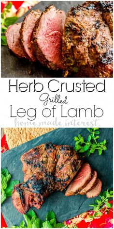 This Herb Crusted Grilled Leg of Lamb is an easy grilled lamb recipe that is coated in fresh herbs and packed full of flavor! Easy Lamb Recipes, Beef Recipes, Dinner Recipes, Holiday Recipes, Fresh Chicken, Chicken Eggs, Lamb Marinade, Marinated Pork, Grilled Leg Of Lamb