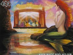 The Little Mermaid - Up Where They Dance - Original - John Rowe - World-Wide-Art.com MUST HAVE!!!!