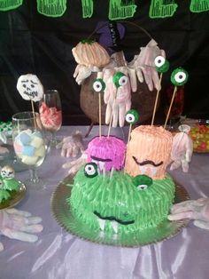 Cake monster halloween