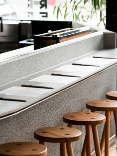 A Friend of Mine (which is a brilliant name for a design studio) from Melbourne created this brand identity for a new restaurant called Future Future.A Friend of Mine: Future Future is a new eatery dedicated… Japanese Restaurant Interior, Melbourne, Japanese Lifestyle, Noodle Bar, Restaurant Furniture, Restaurant Interiors, Cafe Restaurant, Coffee Shop, Contemporary
