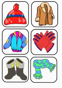 Pictures for winter clothing memory game Body Preschool, Preschool Education, Preschool Themes, Preschool Worksheets, Toddler Learning Activities, Winter Activities, Kids Learning, Preschool Spanish Lessons, Weather Kindergarten