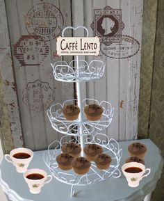 Cupcake stand - three tier,  will enhance any table setting